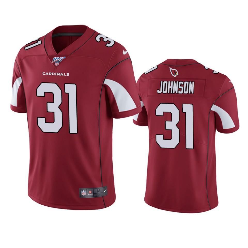 Arizona Cardinals David Johnson Cardinal 100th Season Vapor Limited Jersey