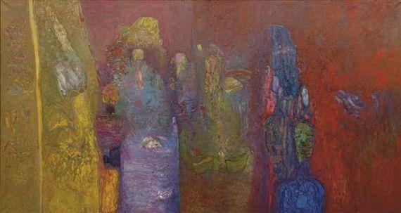 Carnaval Vénitien (1973) - Abdallah Benanteur Algérie Peinture