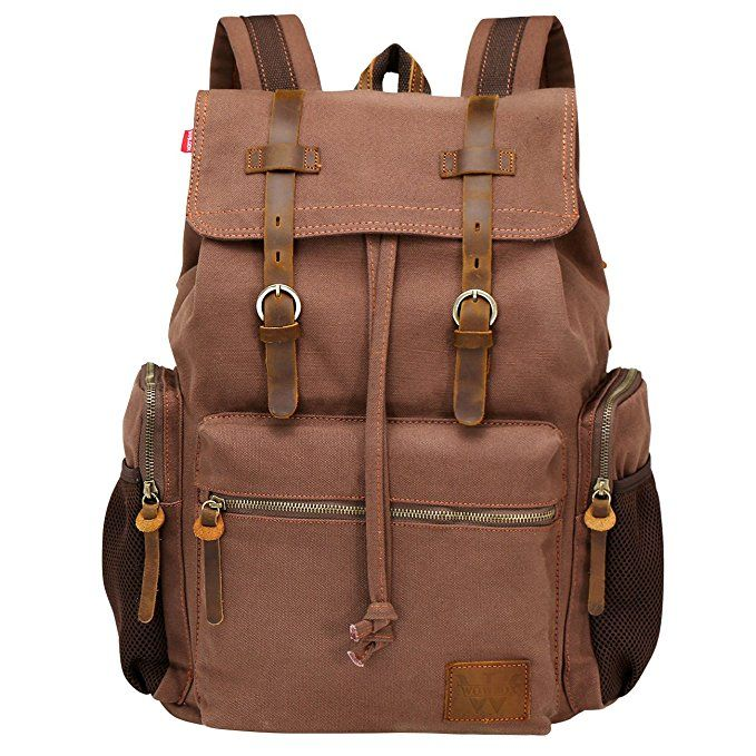 ... Backpack Unisex Vintage Leather Casual Rucksack School College Bags  Satchel Bookbag Large Capacity Hiking Travel Rucksack Business Daypack for  Men and ... 31dd33da4b37b