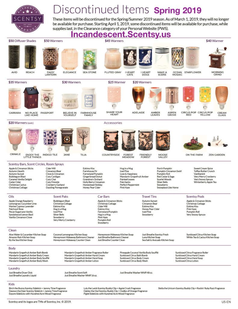 SCENTSY DISCONTINUED PRODUCTS SPRING 2019 Scentsy® Buy