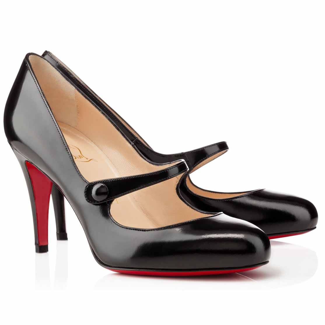 52fce68535c8 Christian Louboutin Charleen 85mm Leather Mary Jane Pumps Black Christian  Louboutin Red Bottoms
