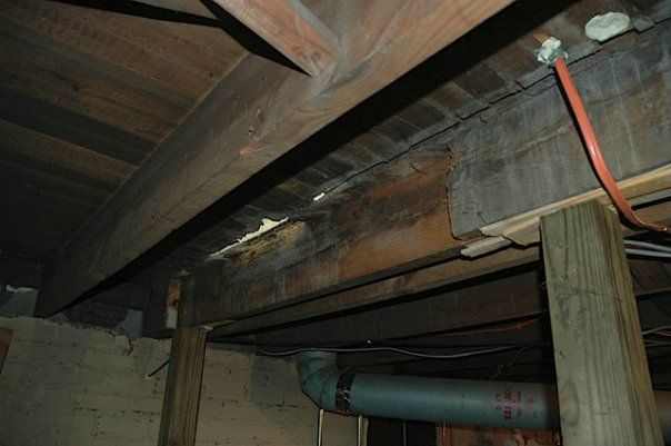 Repairing A Rotted Floor Joist Under Wall Home Repairs Roof