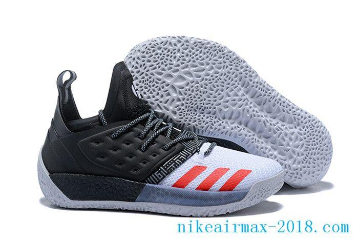 Horno intencional Óxido  2018 Latest James Harden Mens Basketball Shoes Harden Vol.2 White Black Red  | Basketball shoes, Black shoes, Adidas men