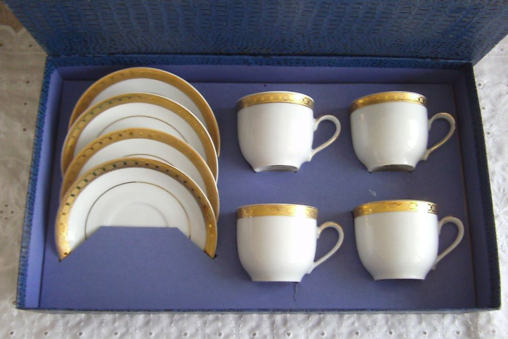 Vintage Mitterteich Bavaria Demitasse Cups Saucers W Germany Special Appointment