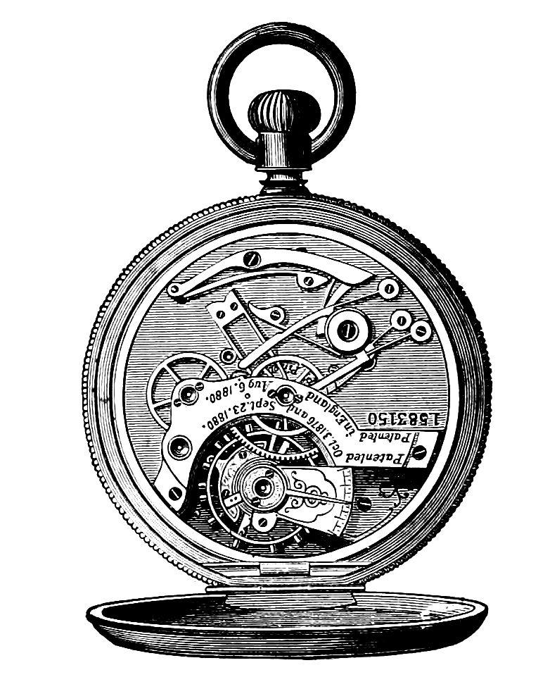 clip art, steampunk, steam punk, watch, watches, pocket ...