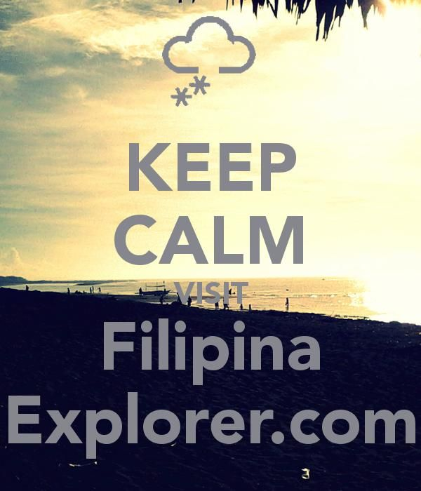 Keep calm Filipina Explorer poster.