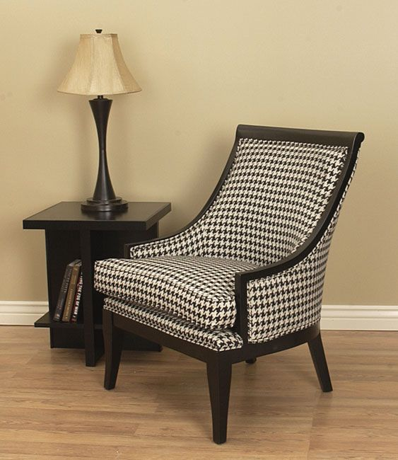 Medford Black U0026 White Houndstooth Chair   Overstock™ Shopping   Great Deals  On Living Room Chairs