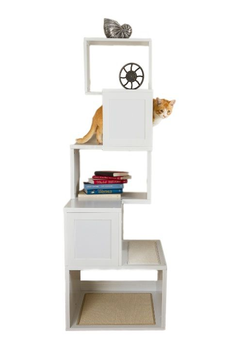 Modern cat tree. I want to figure out how to build this......