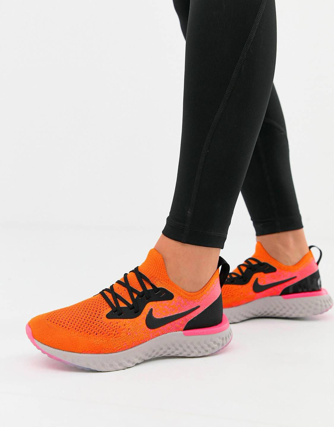 69212a9e92 Nike Running Epic React In Orange | These boots are made for walkin ...