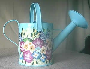 One Stroke Painting Projects | by taking a miniature watering can you can create an