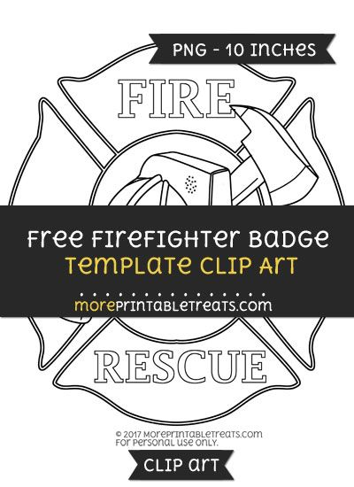 free firefighter badge template clipart clipart files