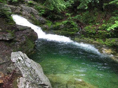 rattlesnake pool flume swimming maine holes water waterfall teal stoneham oxford visit england waterfalls