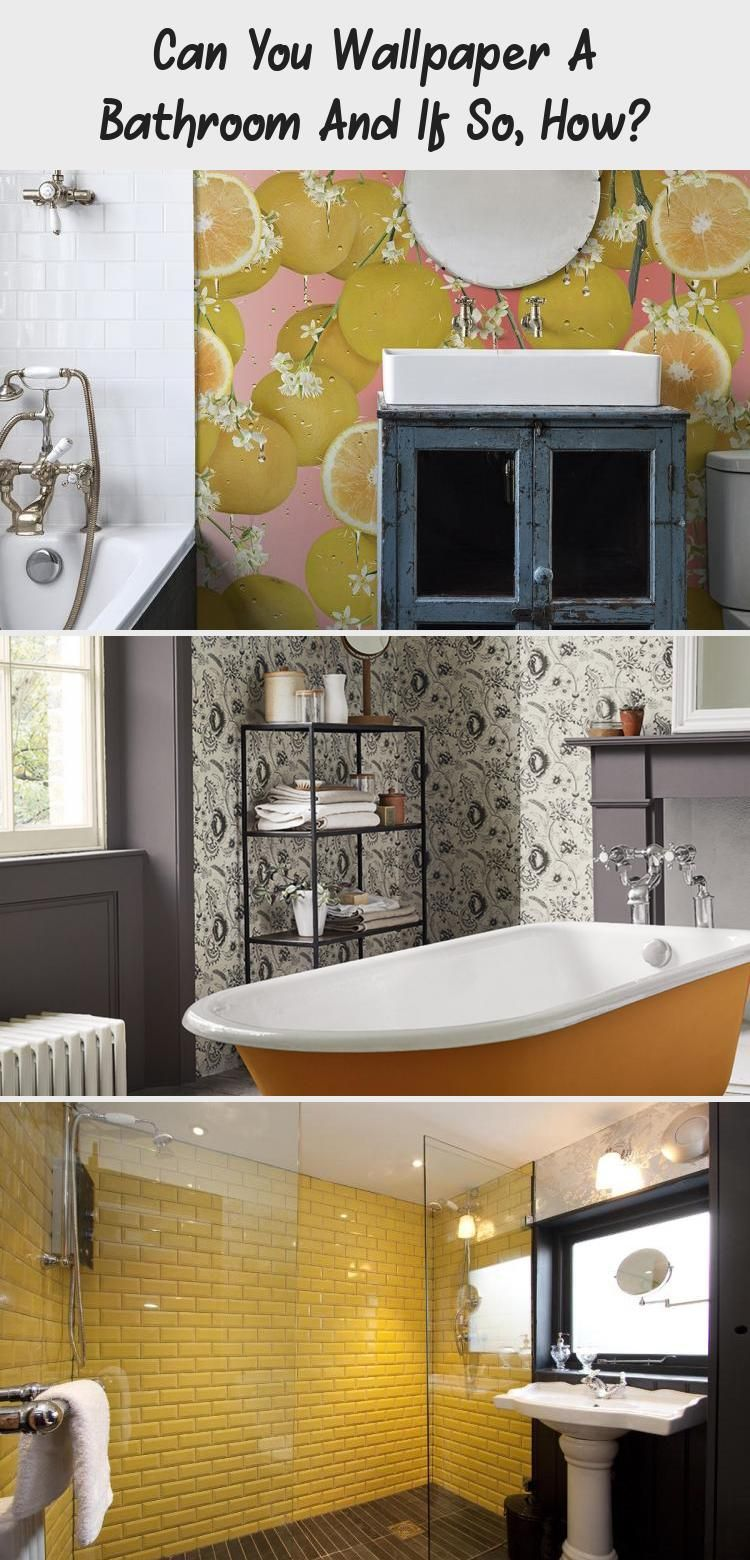 Can You Wallpaper A Bathroom And If So How Bathroom Wallpaper Yellow Small Bathroom Tiles Bathroom Wallpaper