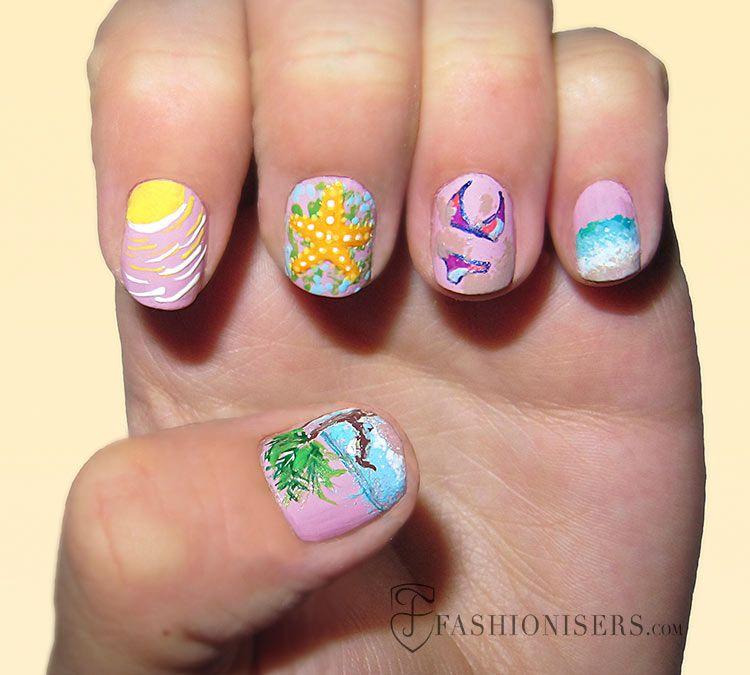 20 Fun Summer Nail Art Designs #nailart #naildesigns #summernails - 20 Fun Summer Nail Art Designs Summer Nail Art And Fingernail Designs