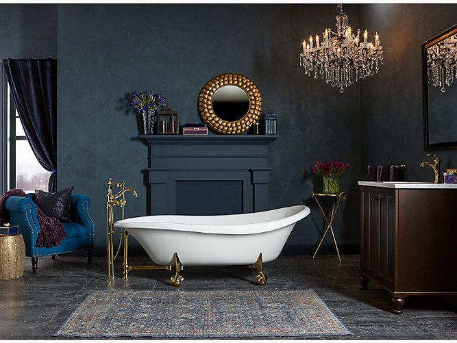 Birthday Bathtub By Kohler 72x37 5 With Images Free Standing Bath Claw Foot Bath Clawfoot Tub