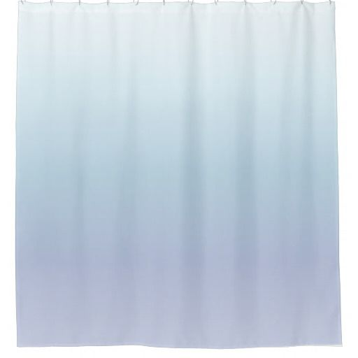 Pale Blue Pastel Gradient Shower Curtain Zazzle Com