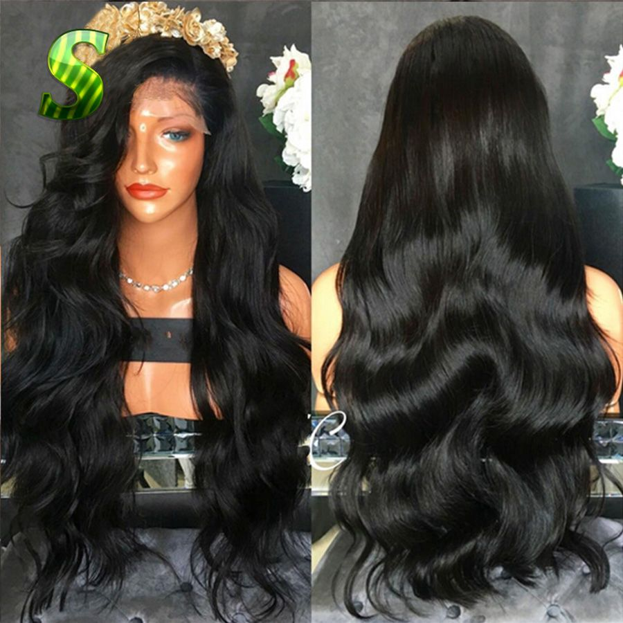 Full Lace Human Hair Wigs For Black Women Natural Cheap Hair Wig Body Wave Lace Front Wigs Brazilian Virgin Hair Full Lace Wigs