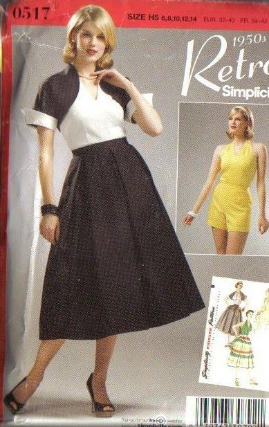 OOP Vintage Retro Simplicity Sewing Pattern Misses Size Free Shipping ...