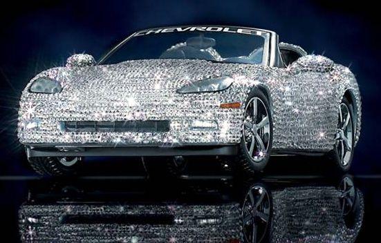 Swarovski Crystal Corvette.  I'm so buying this when I win the lotto!