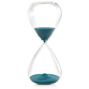 Decorative Accessories Hourglass With Peacock Teal Sand