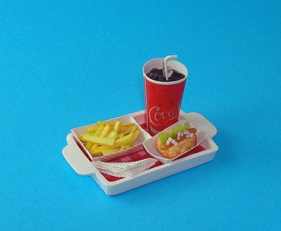 A Tray of Fast Food Treat Coke French Fries and by Thierry1888, $9.90