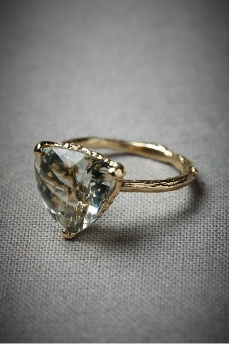 Wedding Ideas Triangular Stone Ring Traditional Engagement