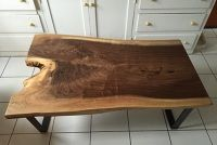 Live Edge Old Growth Redwood Coffee Table - Ambrose Woodworks