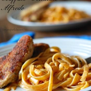 Chicken With Buffalo Fettucine Alfredo #backtoschoolweek Recipe