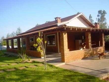 Casa de chacara com varanda pesquisa google fachada de - Casas de campo pequenas ...