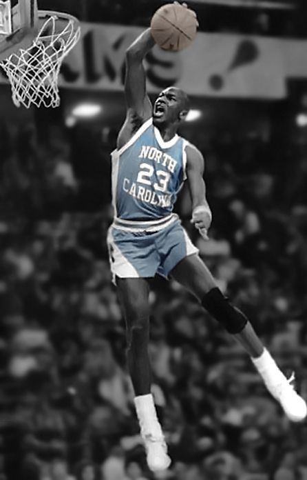 MJ on UNC - he had some amazing dunks in college. Wait till I post his rock  the cradle dunk eb7a2ada9