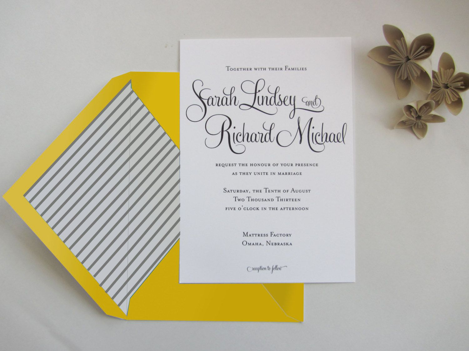APRIL 1st SALE: Personalized Wedding Invitation Suite - Whimsical ...