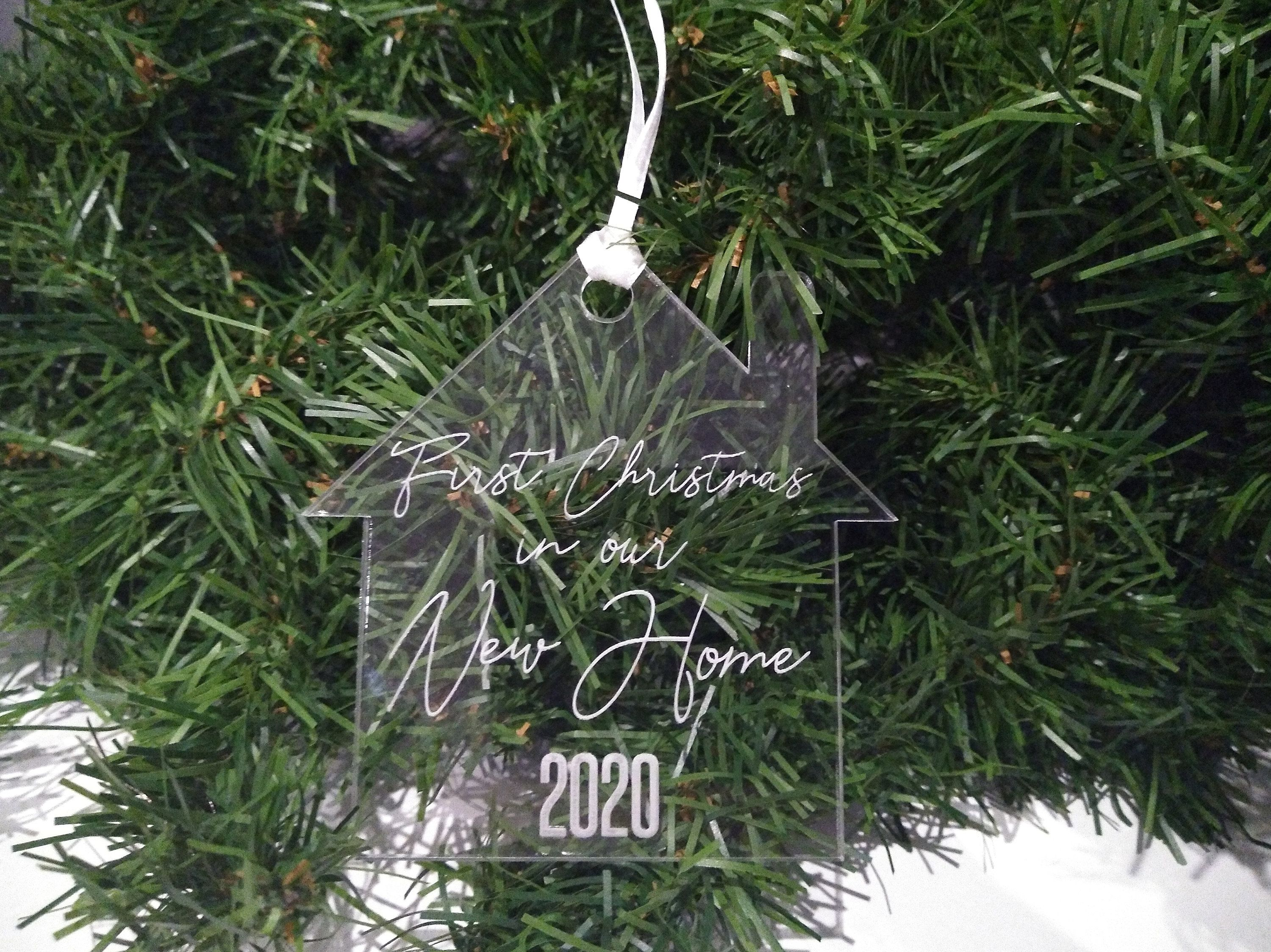 Gifts Fornew Homeowners For Christmas 2020 First Christmas In Our New Home 2020 Engraved Acrylic | Etsy in