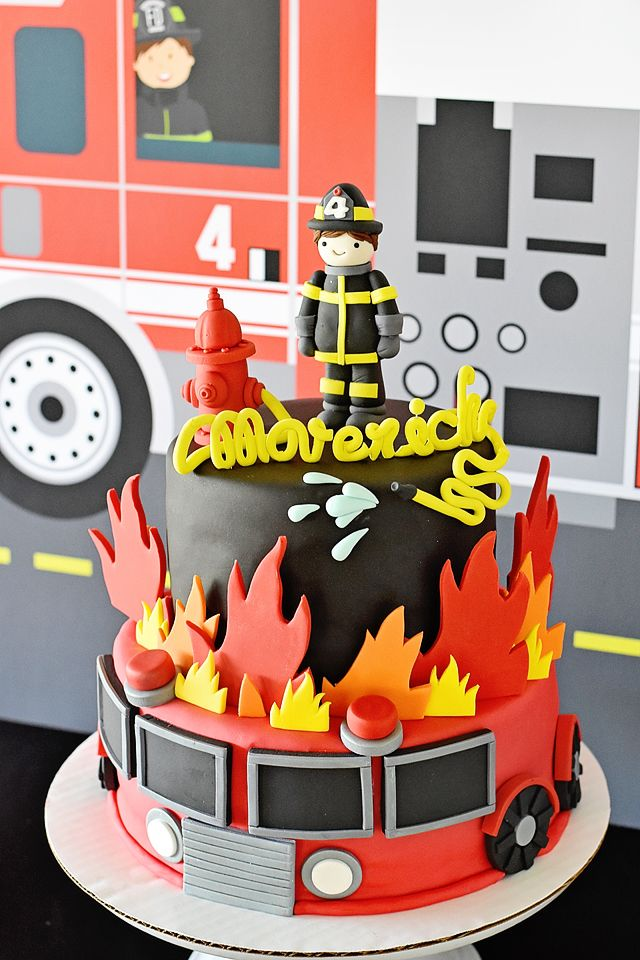 Sound The Alarm For Maverick S Fire Truck 4th Birthday Party In