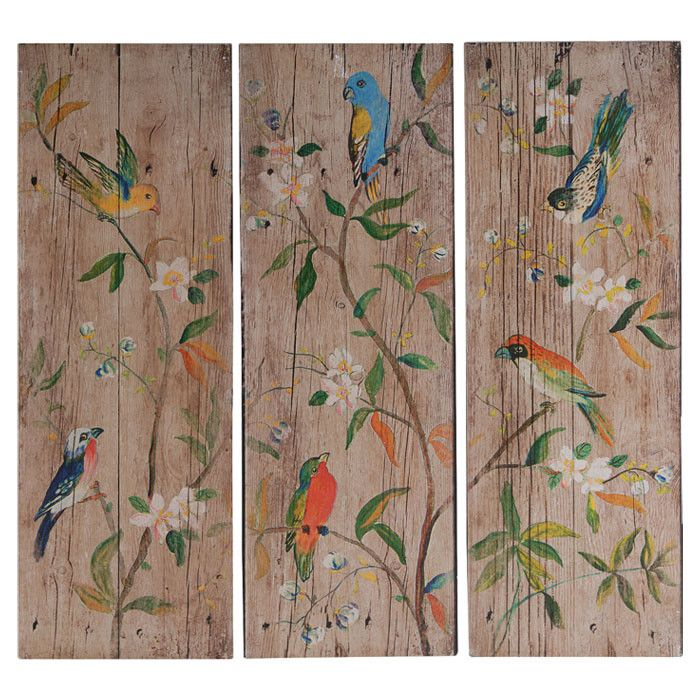Add Artful Appeal To Your Entryway Or Living Room With This Charming Wall  Decor, Showcasing A Bird Motif On A Weathered Wood Panel.