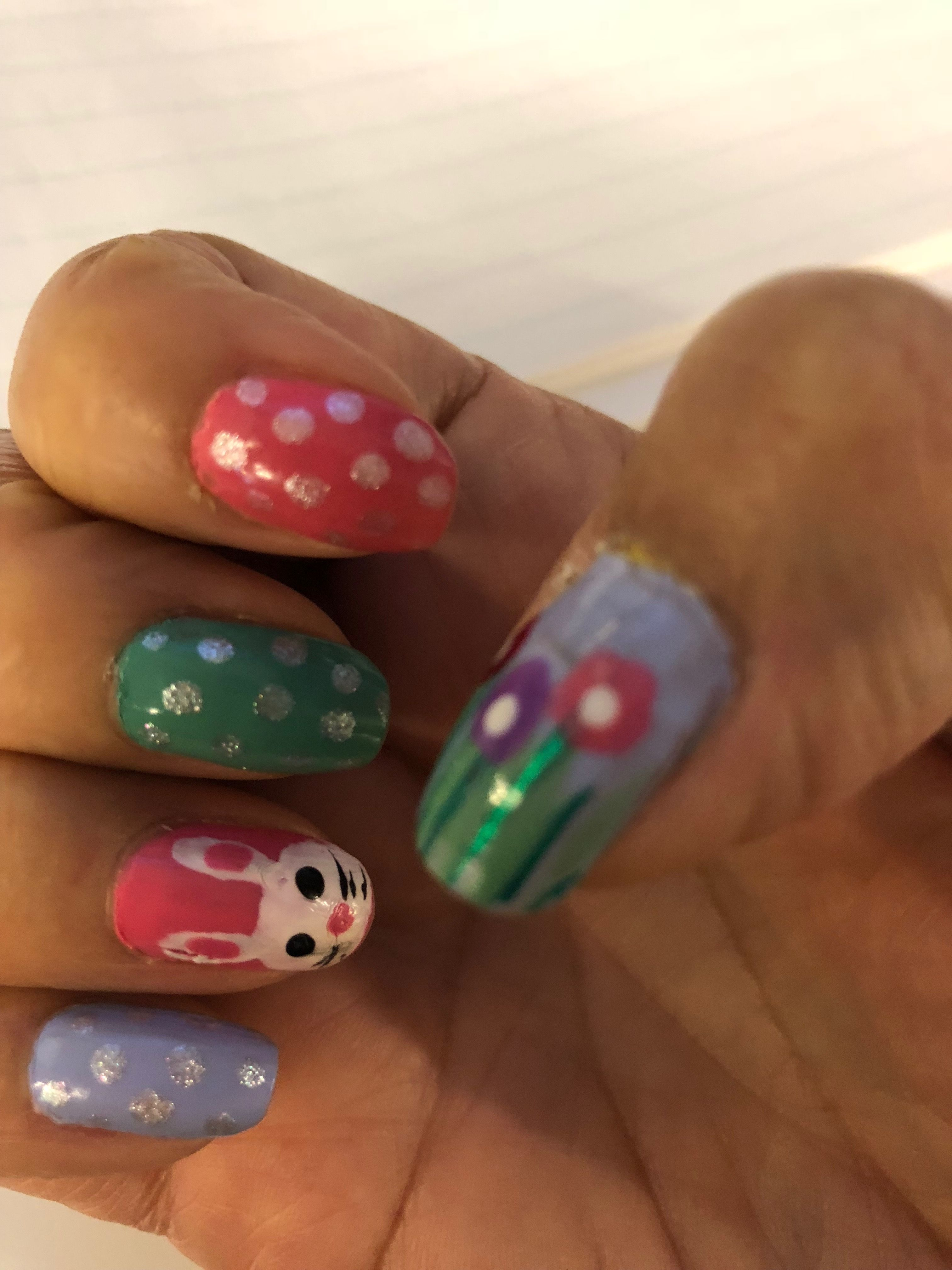 Easter nail design  Nails art  Pinterest  Easter nail designs and