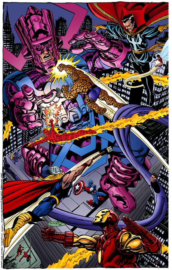 Battle Royal FF And The Avengers Vs Galactus by John Byrne ...  Battle Royal FF...