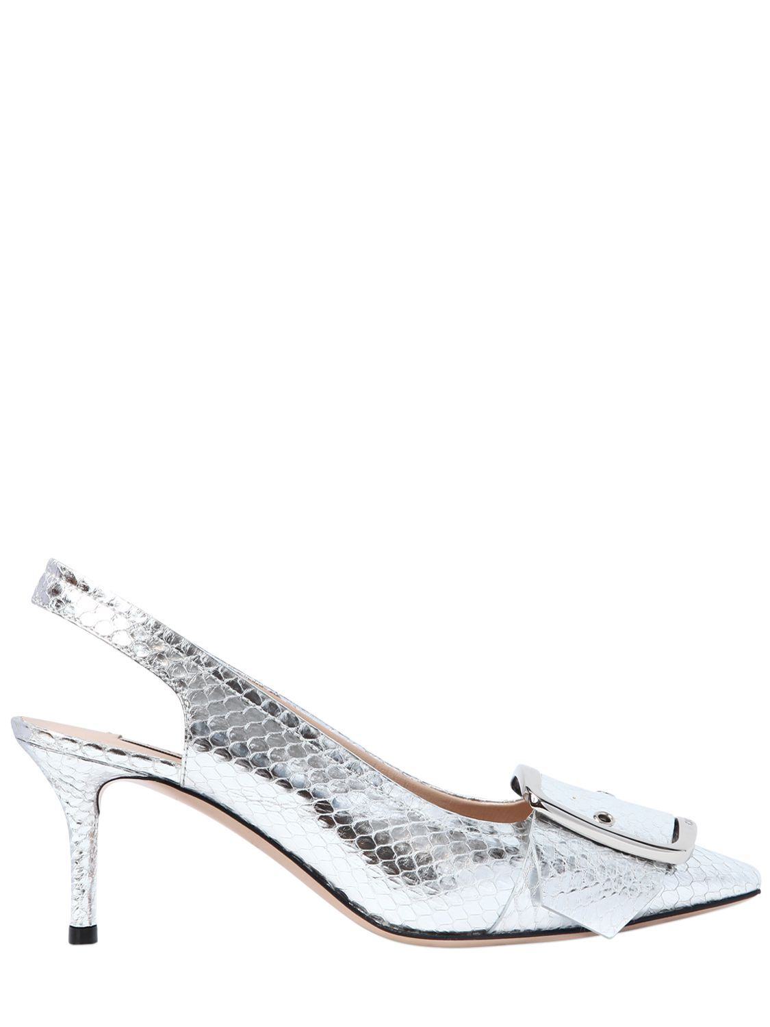 Amazing Price Outlet With Paypal Casadei 60MM BUCKLE SNAKESKIN SLINGBACK PUMPS vqo33XSHtO