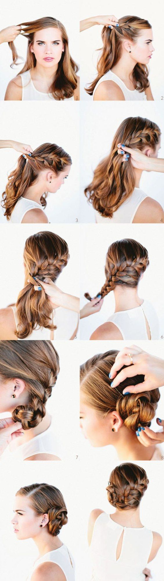 #Fun and simple everyday #hairstyles http://www.kafepauza.mk/zivot/10-interesni-i-brzi-frizuri-koi-mozhe-da-gi-napravite-sami/