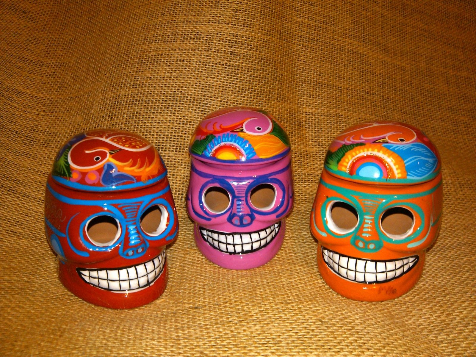 28 best dia de los muertos day of the dead images on pinterest painted clay skull trinket box calavera day of the dead dia de muertos mexico ebay dailygadgetfo Images