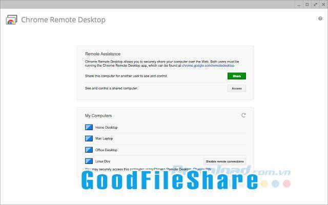 Download Chrome Remote Desktop Chrome apps, Linux