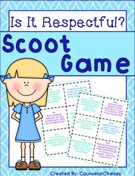 respect scoot game  character education lessons teaching