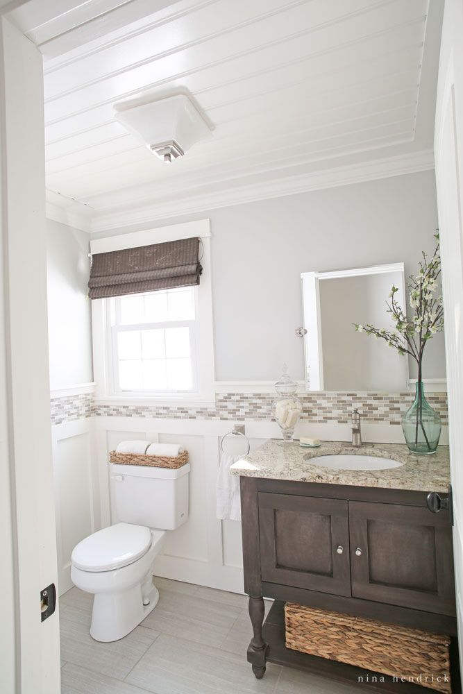 Diy Beadboard Ceiling Tutorial Beadboard Bathroom Bathrooms Remodel Room Makeover