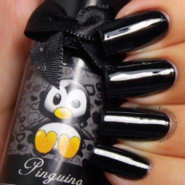 Esmaltes da Kelly Pinguino Black Stamping Polish