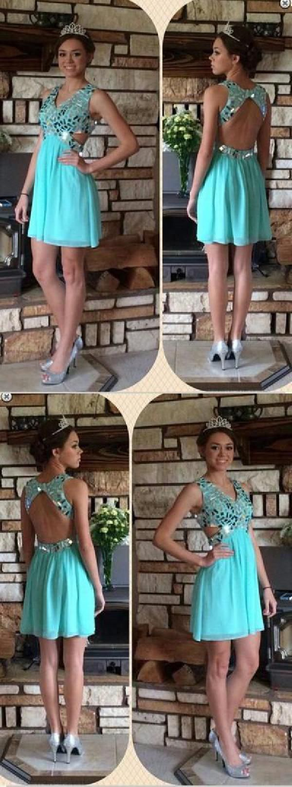 Blue homecoming dress homecoming dress short open back homecoming