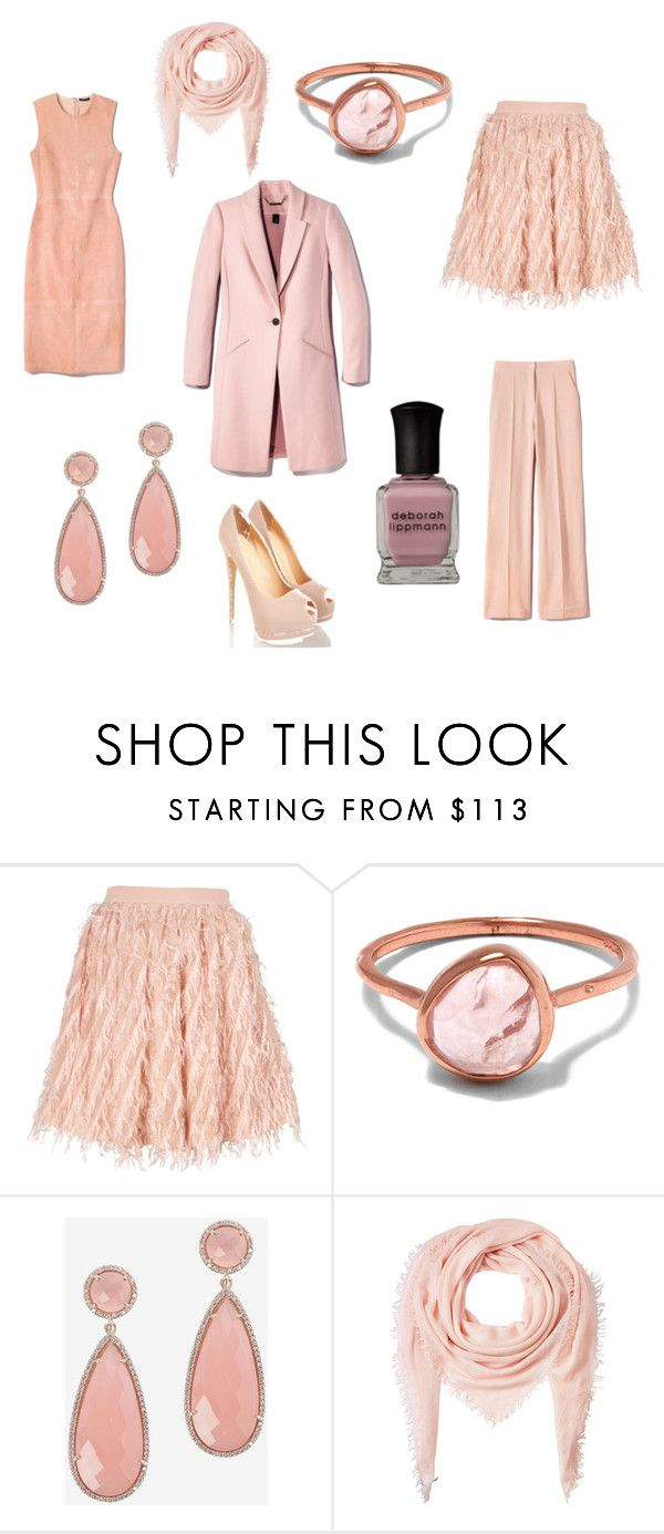 """Pink Monday"" by mspippistyle ❤ liked on Polyvore featuring Baum und Pferdgarten, Monica Vinader, Susan Hanover, Faliero Sarti, Pink and pastelpink"