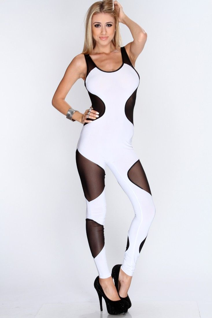 A flawless bodysuit  Hypnotic! Captivate other fashionistas by layering  this sexy jumpsuit with silver 70ebbc647