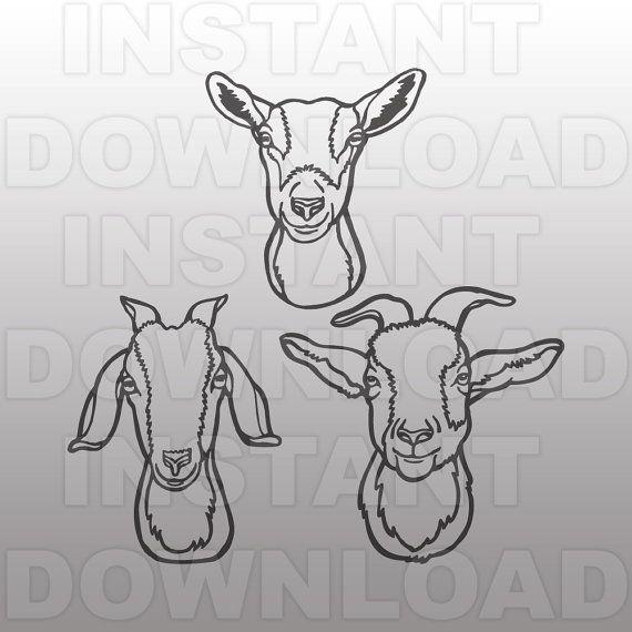 Goat Face Svg Bundlestock Show Goat Filelivestock Svgffa Etsy In 2020 Goat Art Art Goat Logo