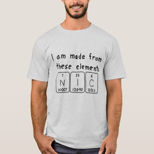 Nic periodic table name shirt periodic table nic periodic table name shirt urtaz Image collections