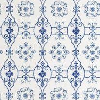 Sherle Wagner Delft Wallpaper in Blue