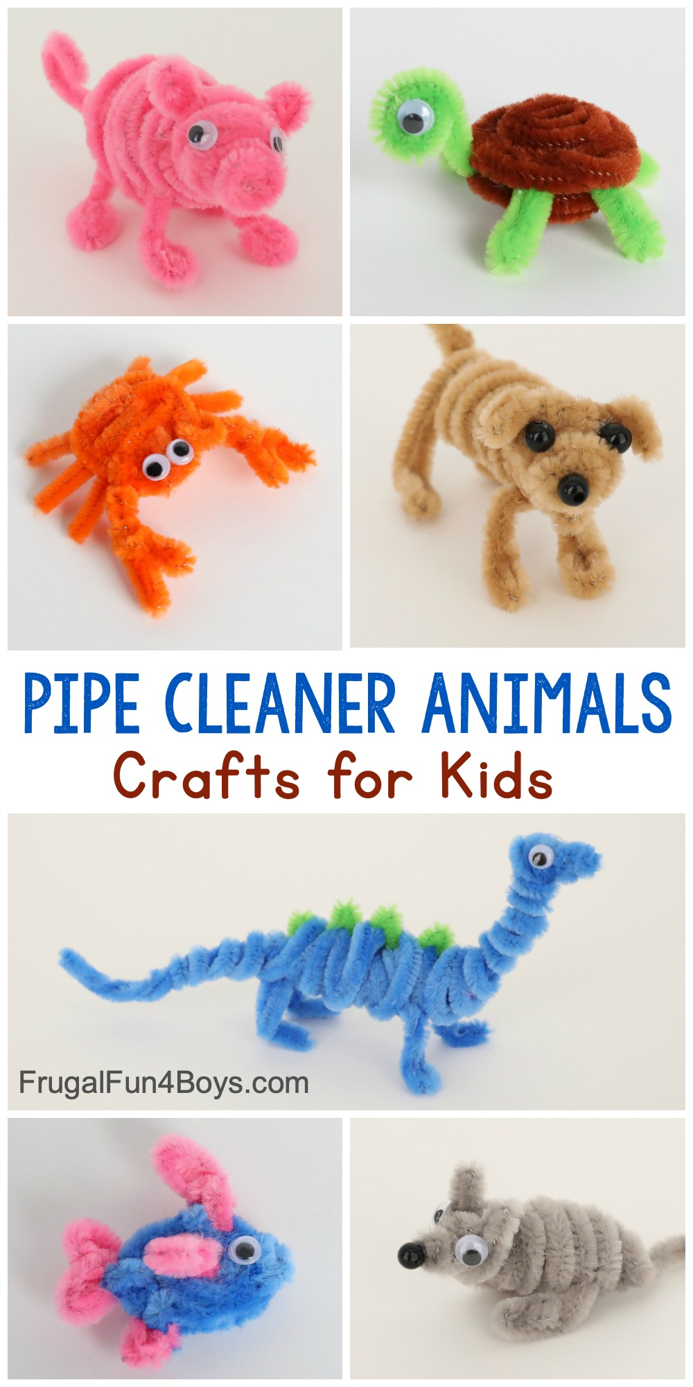 Adorable Pipe Cleaner Animals Craft for Kids